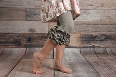 Capri Icing Leggings - Taupe - Pearls and Piggytails