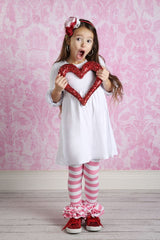 Bella Triple Ruffle Pants - Strawberry Shortcake - Pearls and Piggytails