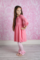 Bella Triple Ruffle Pants - Light Pink - Pearls and Piggytails