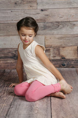 Sutton Button Leggings - Bubblegum