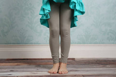Sutton Button Leggings - Taupe - Pearls and Piggytails