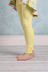 Sutton Button Leggings - Light Yellow