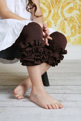 Capri Icing Leggings - Chocolate - Pearls and Piggytails
