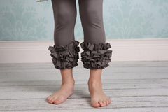 Capri Icing Leggings - Grey - Pearls and Piggytails