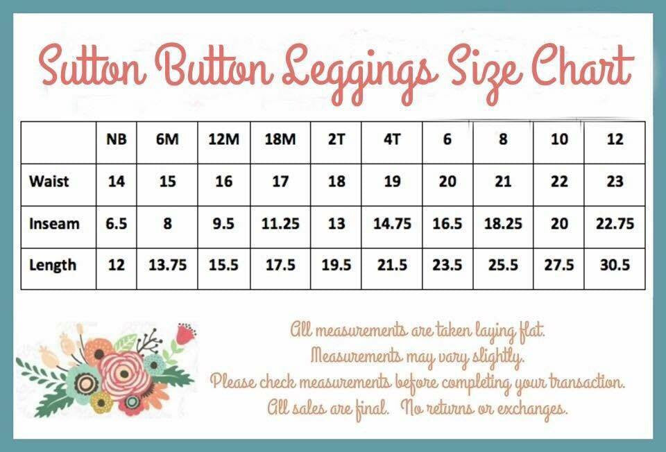 Sutton Button Leggings - Tiffany - Pearls and Piggytails