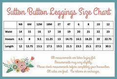 Sutton Button Leggings - - Pearls and Piggytails