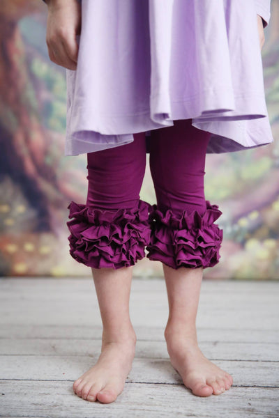 Capri Icing Leggings - Plum