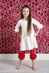 Capri Icing Leggings - Ruby - Pearls and Piggytails