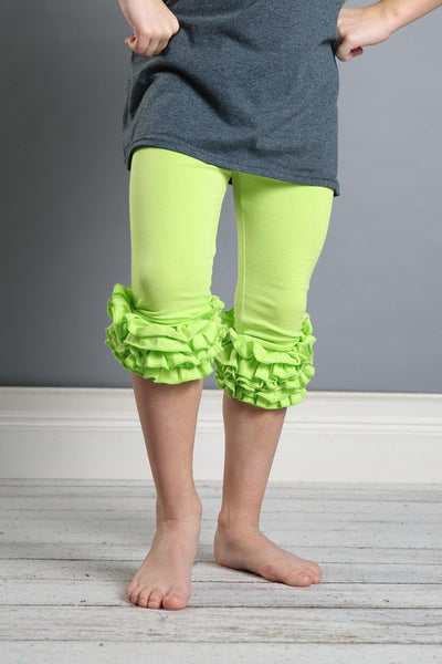 Capri Icing Leggings - Lime