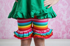 Ruffle Shortie - Rainbow