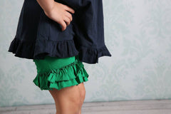 Ruffle Shortie - Kelly - Pearls and Piggytails