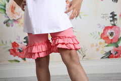 Ruffle Shortie - Taffy - Pearls and Piggytails