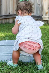 Brylee Baby Bloomer - Peach - Pearls and Piggytails