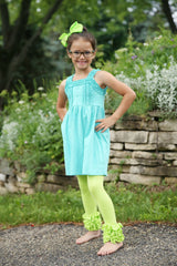 Icing Ruffle Leggings - Lime