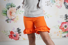 Ruffle Shortie - Orange - Pearls and Piggytails