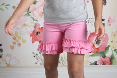 Ruffle Shortie - Pink - Pearls and Piggytails