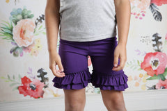 Ruffle Shortie - Raisin - Pearls and Piggytails