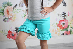Ruffle Shortie - Seamist - Pearls and Piggytails
