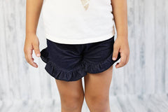 Poppy Shorts - Denim - Pearls and Piggytails