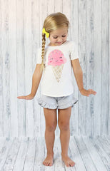 Poppy Shorts - T-Shirt - Pearls and Piggytails