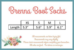 PREORDER Brenna Boot Socks - Pearls and Piggytails