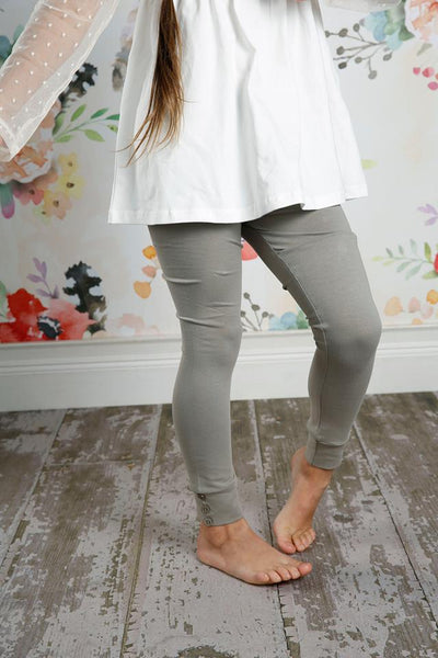 Sutton Button Leggings - Taupe