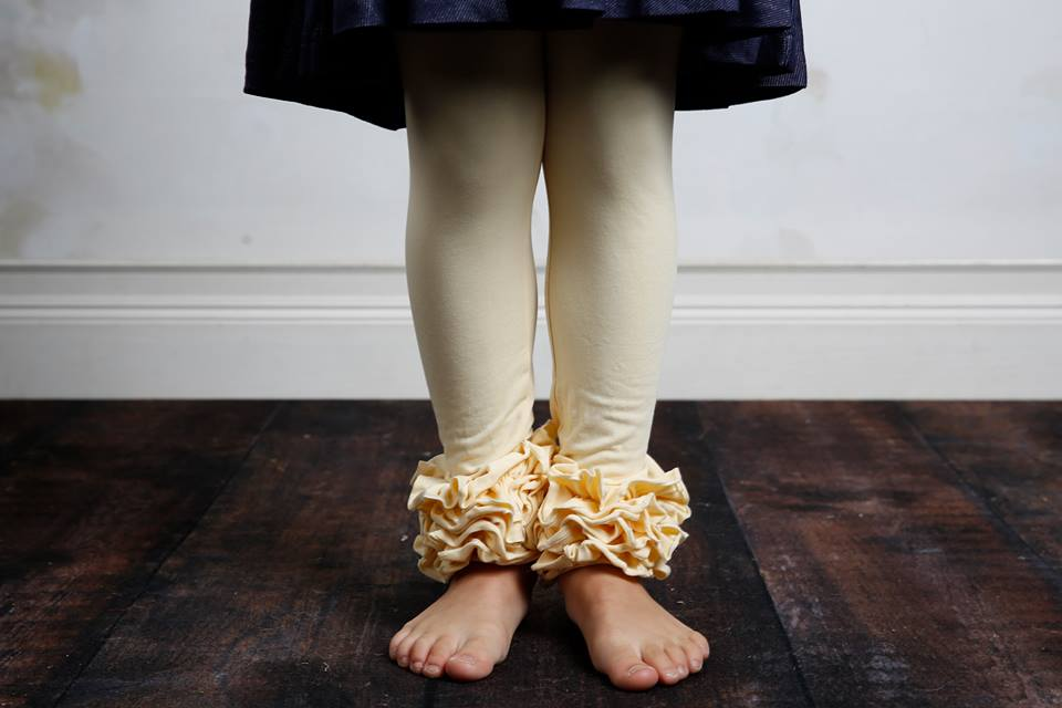 Icing Ruffle Leggings - French Vanilla