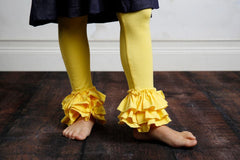Bella Triple Ruffle Pants - Light Yellow