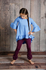 Icing Ruffle Leggings - Berry