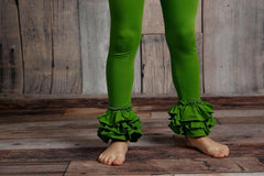 Bella Triple Ruffle Pants - Seaweed