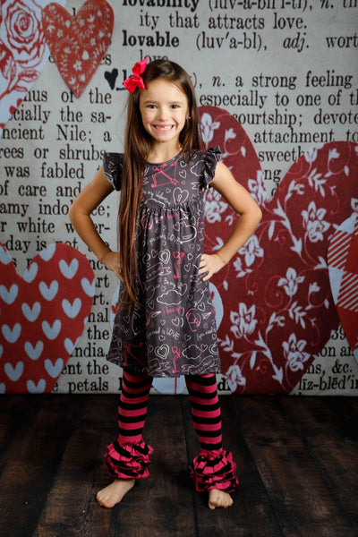 Bella Triple Ruffle Pants - Heart Throb