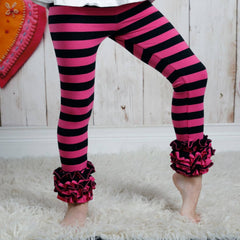 Icing Ruffle Leggings - Heart Throb