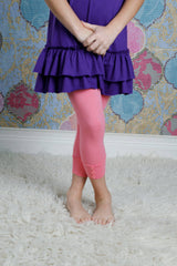 Capri Sutton Button Leggings - Bubblegum
