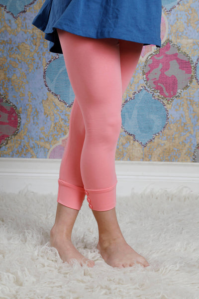 Capri Sutton Button Leggings - Taffy