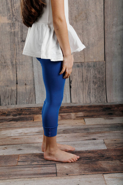 Capri Sutton Button Leggings - Royal