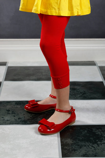 PREORDER Capri Sutton Button Leggings - Red
