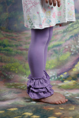Bella Triple Ruffle Pants - Purple