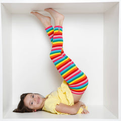 Sutton Button Leggings - Rainbow