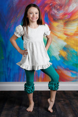 Capri Icing Leggings - Emerald