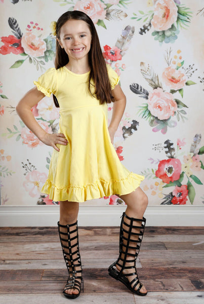 Charlotte Dress - Light Yellow