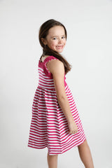 Nessa Dress - Razzle Stripe