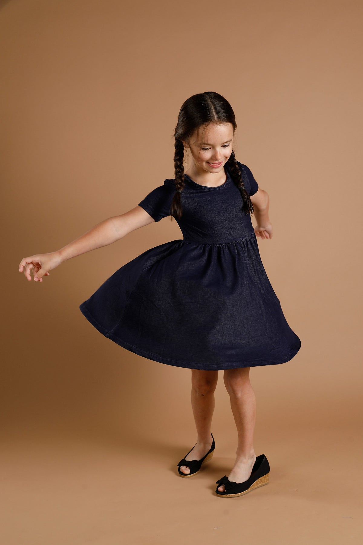 Mia Dress - Denim