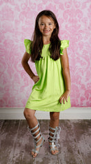 Pearl Dress - Lime