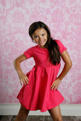 Mia Dress - Hot Pink