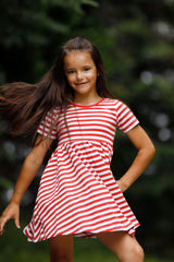 Mia Dress - Red Wagon