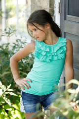 Finley Tank Top - Dark Mint