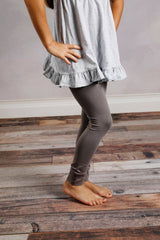 Sutton Button Leggings - Grey