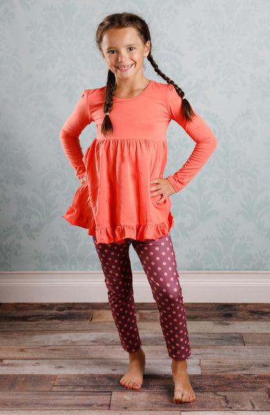 Addison Top - Coral