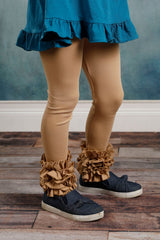 Icing Ruffle Leggings - Kinda Like Khaki