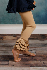 Bella Triple Ruffle Pants - Kinda Like Khaki